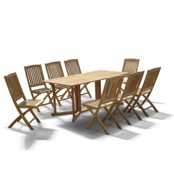 Shelley Garden Gateleg Table and 8 Chairs Set