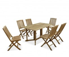 Shelley Gateleg Rectangular Garden Table and 6 Chairs