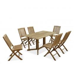 Shelley Gateleg Rectangular Garden Table and 6 Chairs
