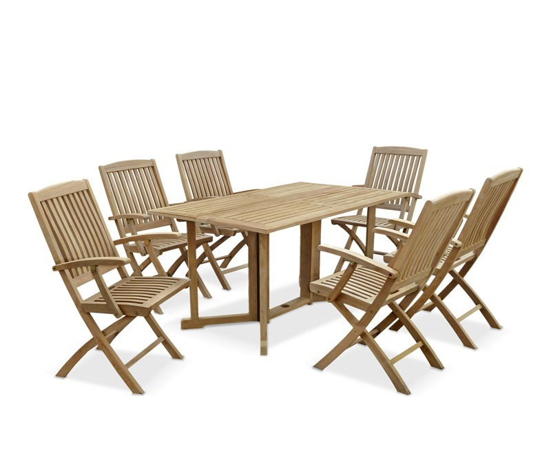 Shelley Gateleg Rectangular Garden Table and Armchairs Set