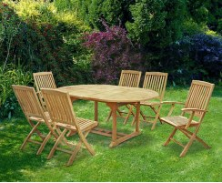 Brompton Teak Extending Table Set 3