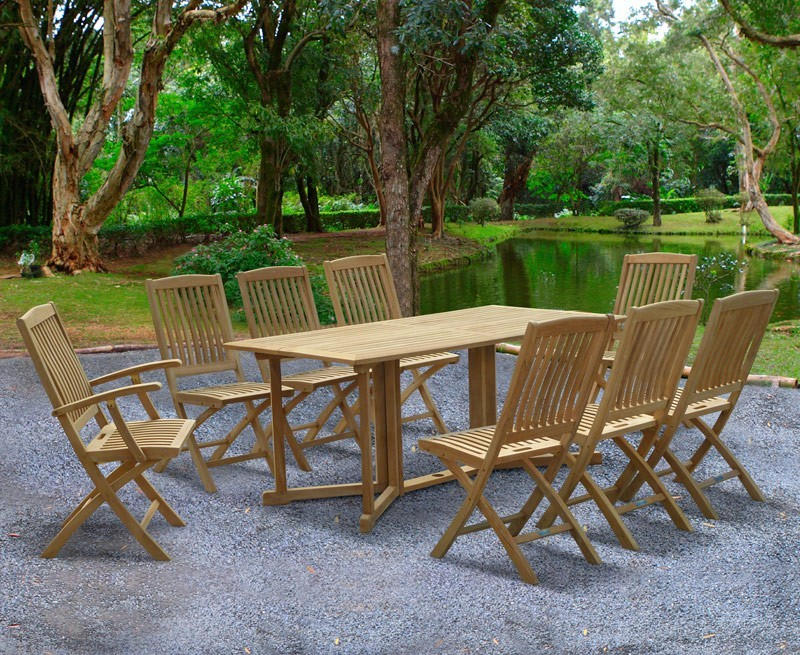 shelley 8 seater garden table and chairs set - Garden Furniture 8 Seater