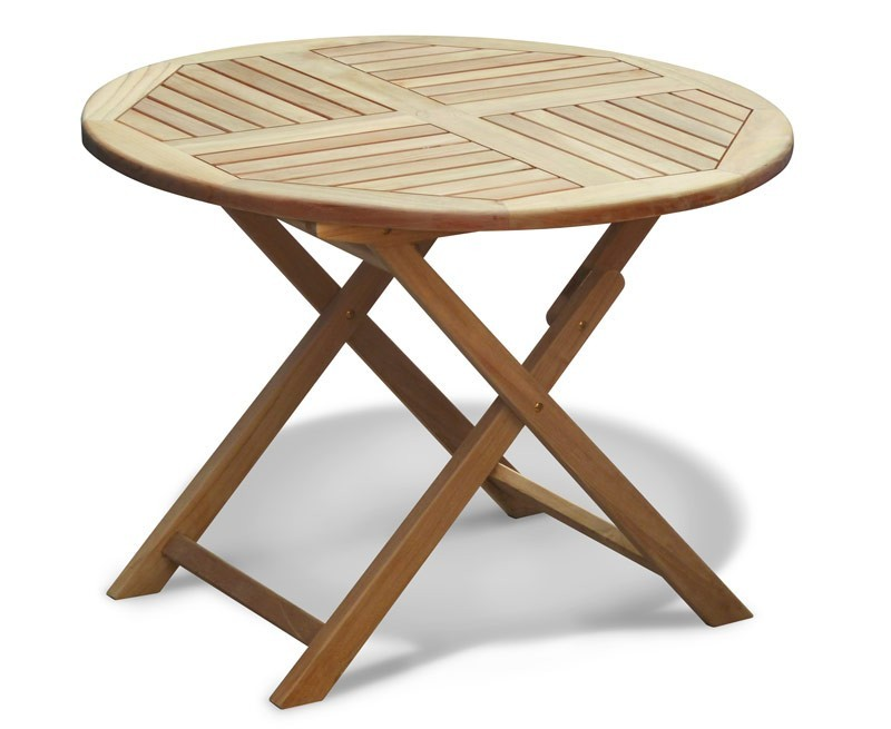 Suffolk Teak Folding Round Table