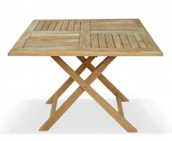teak foldable outdoor table