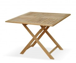 Suffolk Square Teak Folding Table 1m