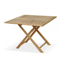 Suffolk Square Folding Table, Teak – 1m