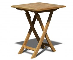 Suffolk Square Garden Table, Folding, Teak – 0.6m