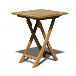 Suffolk Square Garden Table, Folding, Teak – 0.6m