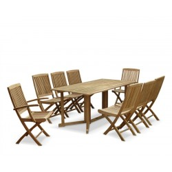 Outdoor Drop Leaf Table and Chairs