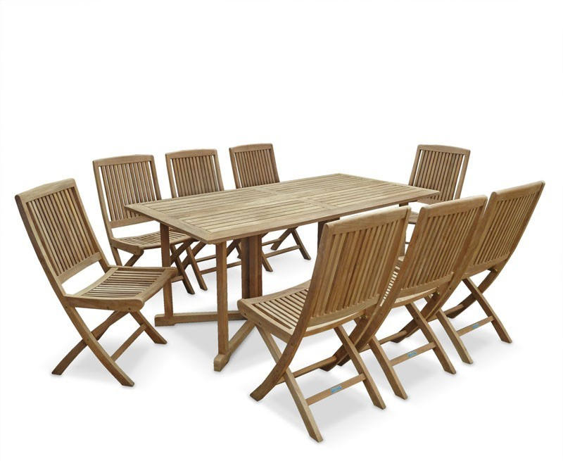 shelley outdoor drop leaf table and 8 rimini chairs. Black Bedroom Furniture Sets. Home Design Ideas