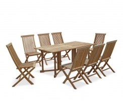 Shelley Rectangular Folding Garden Table and Chairs Set (2)