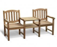 Ascot Vista Teak Garden Companion Seat