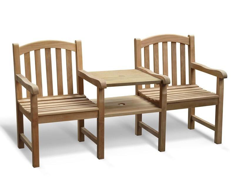 Clivedon Vista Teak Companion Seat, Jack and Jill Bench