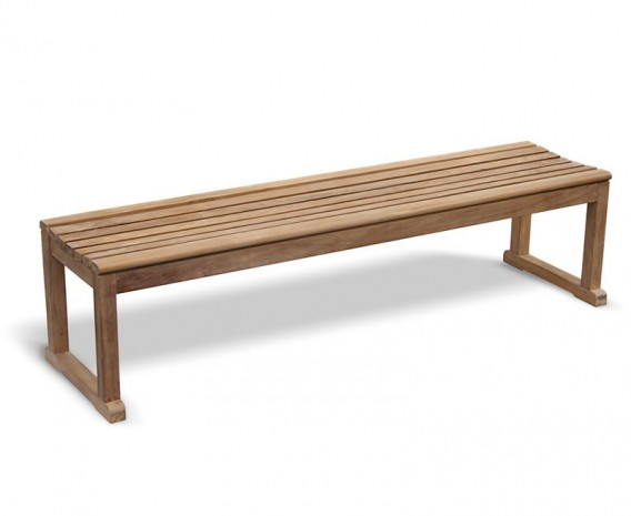 Westminster Teak Backless Garden Bench – 1.8m