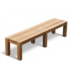 Chichester Teak Outdoor Backless Bench – 2m