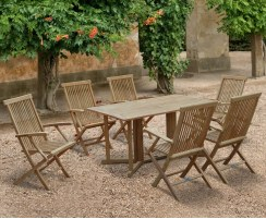 Shelley Garden Gateleg Table and Chairs Set