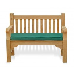 sturdy teak park bench
