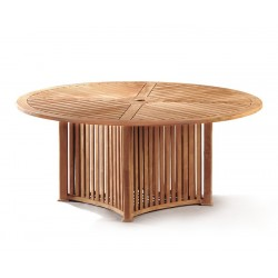 Aero Teak Contemporary Round Garden Table – 1.8m