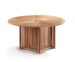 Aero Teak Contemporary Round Garden Table – 1.5m
