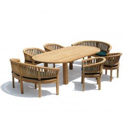 Titan 8 Seater Garden Table 2.6m, Contemporary Benches & Chairs