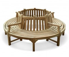 Teak Circular Tree Seat with arms