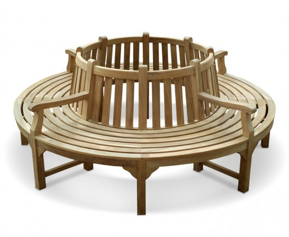 Teak Circular Tree Seat with arms