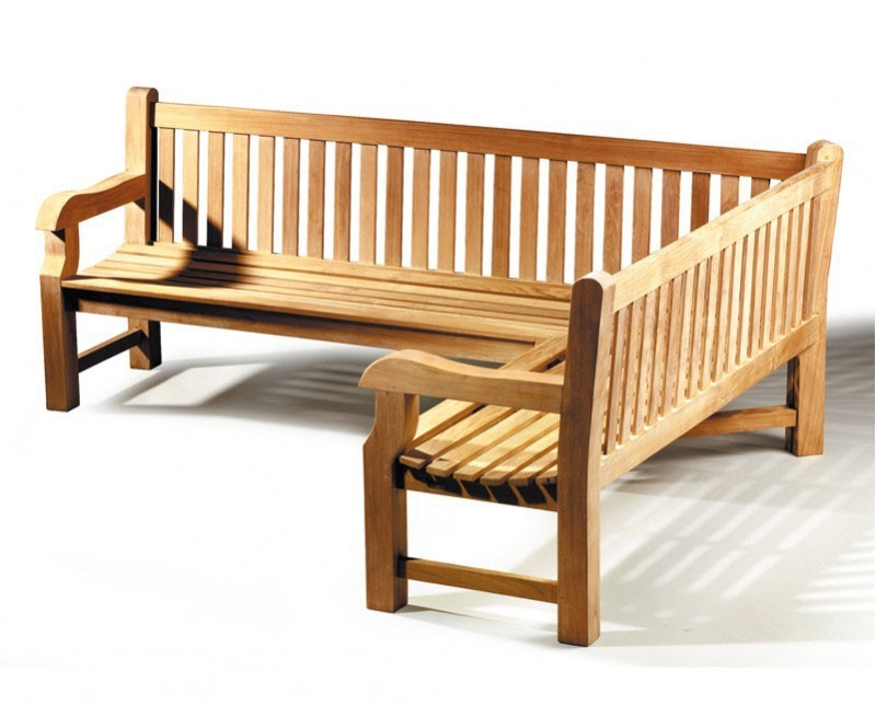 Balmoral Chunky Corner Garden Bench, 5-6 Seater, Right Orientation