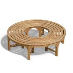 Saturn Round Backless Tree Seat, Teak Circular Tree Bench – 1.6m