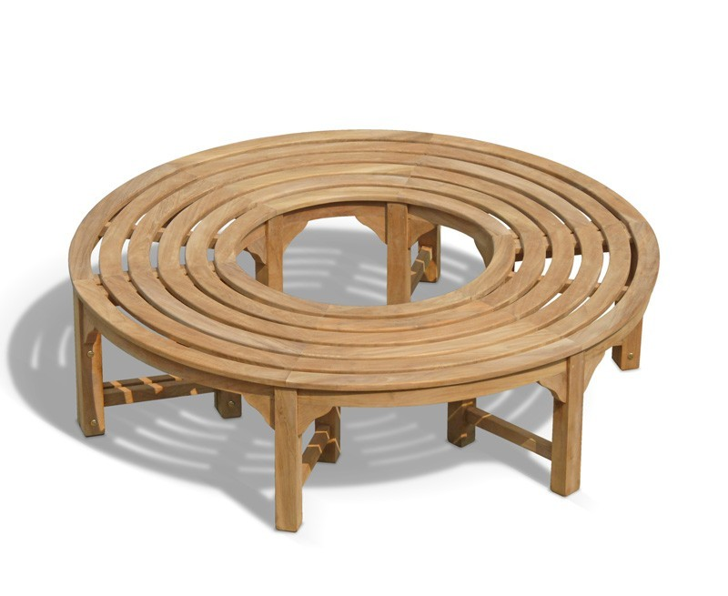 Saturn Round Backless Tree Seat Teak Circular Tree Bench