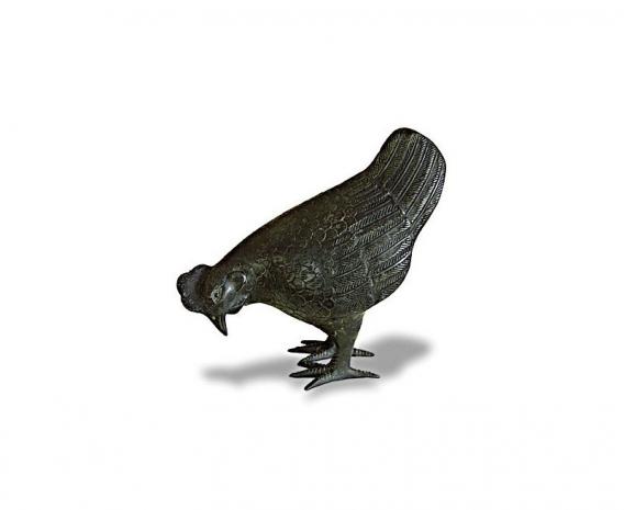 Small Hen Brass Ornament
