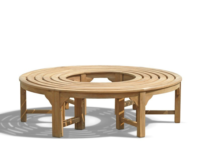 Round Backless Tree Seat Teak Circular Tree Bench 1 6m