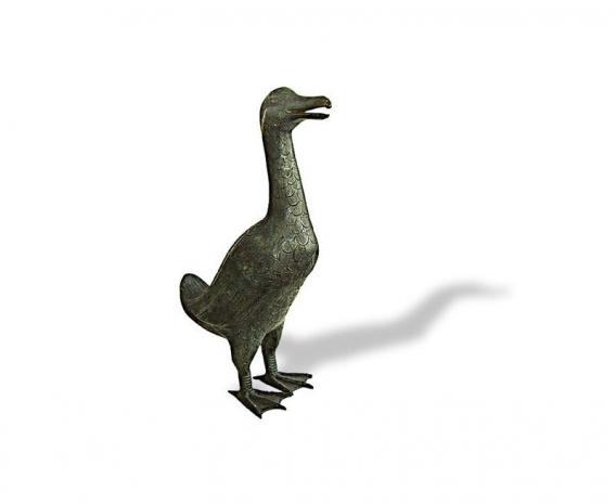 Large Tall Duck Brass Ornament