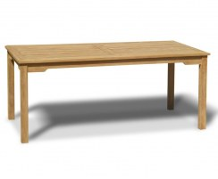 Sandringham Teak Rectangular Outdoor Patio Dining Table – 0.9 x 1.8m