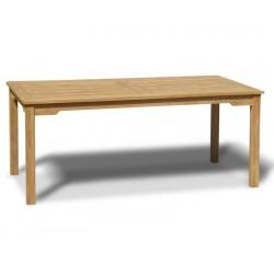Sandringham Teak Outdoor Rectangular Dining Table – 1.8m