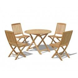 Suffolk 4 Seater Folding Table and Chairs Set