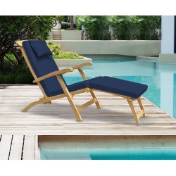 steamer deck chair with cushion set