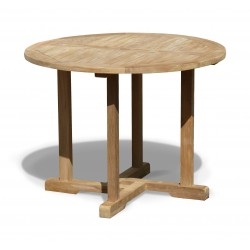Canfield Teak Round Dining Table – 1m
