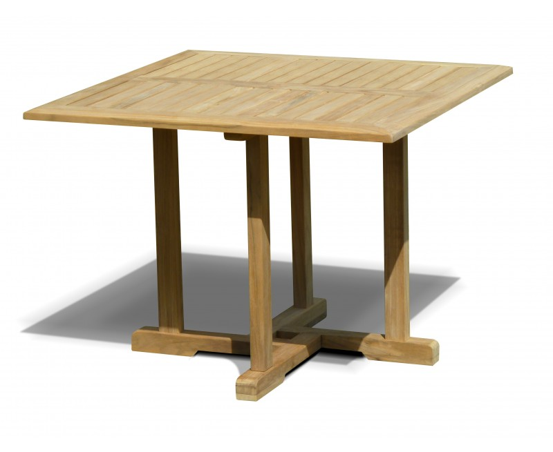 Canfield Teak Square Patio Dining Table – 1m