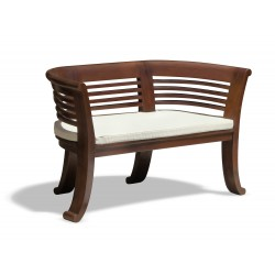 Kensington 2 Seater Teak Indoor Bench – 1.31m