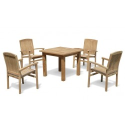 Balmoral 4 Seater Garden Table and Stacking Chairs Set
