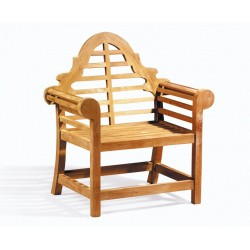 Lutyens-Style Chair, Teak Decorative Garden Armchair