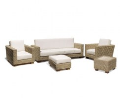 Water Hyacinth Seagrass Sofa Set, Conservatory Furniture Set