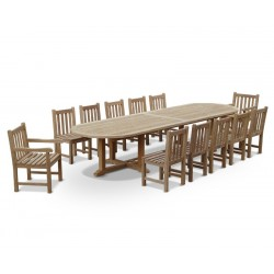 13 Piece Patio Set with Hilgrove Oval 4m Table, Side Chairs & Armchairs