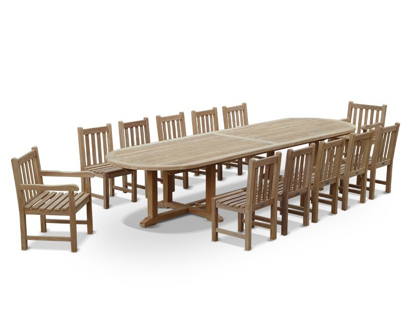 12 seater large teak dining set with hilgrove oval 4m for 12 seater oval dining table