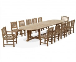 12 Seater Patio Set with Hilgrove 4m Garden Table & Ascot Chairs