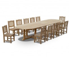 12 Seater Patio Set with Hilgrove Oval 4m Table & Ascot Chairs