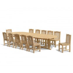 12 Seater Patio Set with Hilgrove Oval 4m Table & Clivedon Chairs