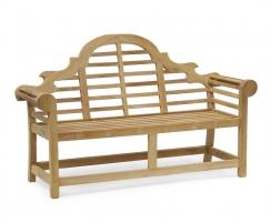 Teak Wooden Lutyens Garden Bench Seat  – 1.65m