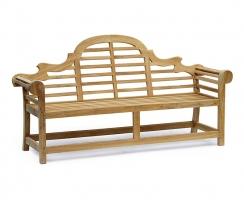 Teak Wooden Lutyens Garden Bench Seat  – 1.95m