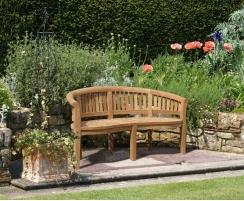 Wimbledon Teak Garden Dining Set – Wide Table